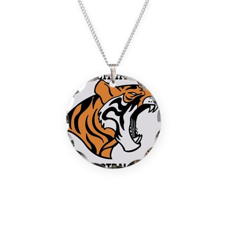 lees summit football Necklace Circle Charm