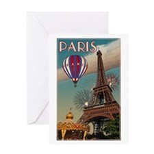 Vintage Eiffel Tower Greeting Card
