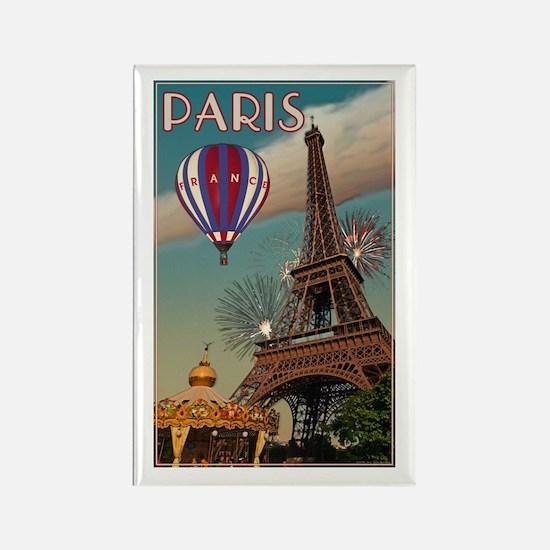 Vintage Eiffel Tower Rectangle Magnet