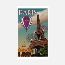 Vintage Eiffel Tower Sticker (Rectangle)