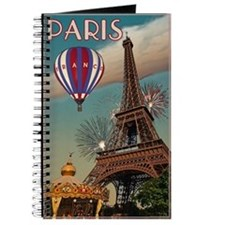 Vintage Eiffel Tower Journal