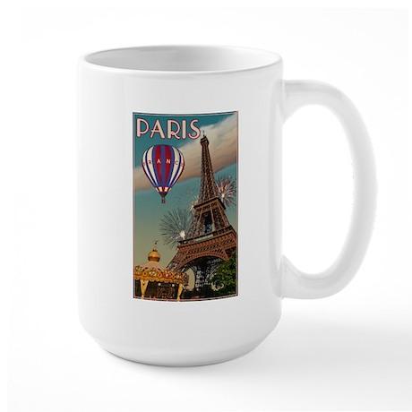 Vintage Eiffel Tower Large Mug
