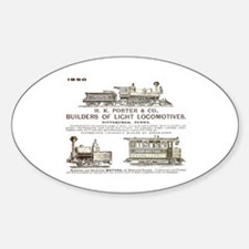 H K Porter & Company, 1890 Oval Decal