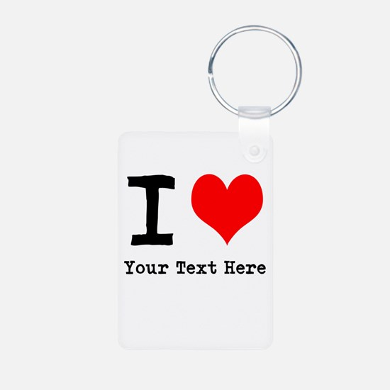 I Heart (personalized) Keychains