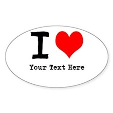 I Heart (personalized) Decal