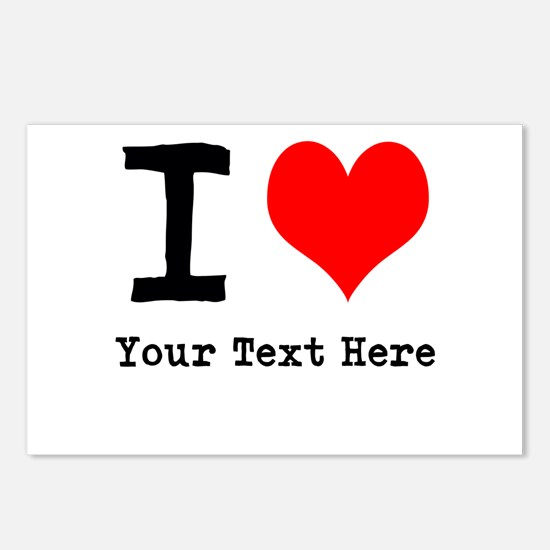 I Heart (personalized) Postcards (Package of 8)