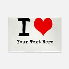 I Heart (personalized) Rectangle Magnet (10 pack)