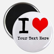 "I Heart (personalized) 2.25"" Magnet (10 pack)"