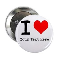 "I Heart (personalized) 2.25"" Button"