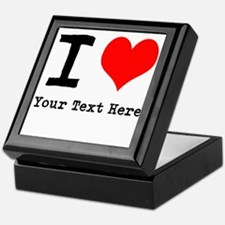 I Heart (personalized) Keepsake Box