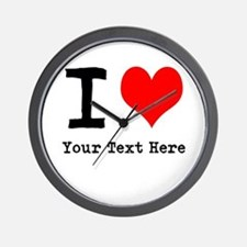 I Heart (personalized) Wall Clock