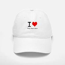 I Heart (personalized) Baseball Baseball Cap