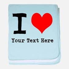 I Heart (personalized) baby blanket