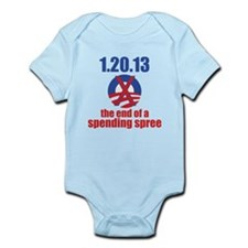 the end of a spending spree Infant Bodysuit