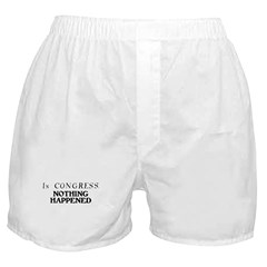 In CONGRESS, NOTHING HAPPENED Boxer Shorts