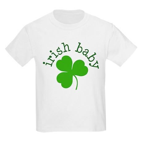 Irish Baby Shamrock Kids Light T-Shirt