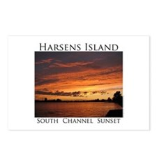 Harsens Island Sunset 2 Postcards (Package of 8)