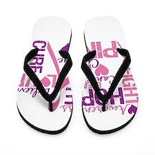 Breast Cancer Words Flip Flops