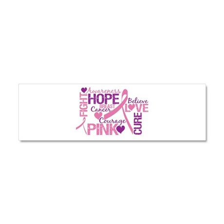 Breast Cancer Words Car Magnet 10 x 3