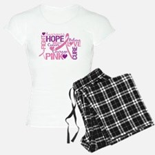 Breast Cancer Words Pajamas