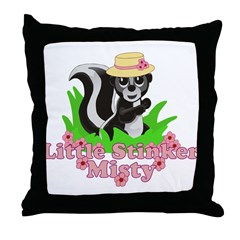 Little Stinker Misty Throw Pillow