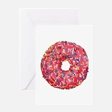 Skull &Bone Sprinkle Donut Greeting Card