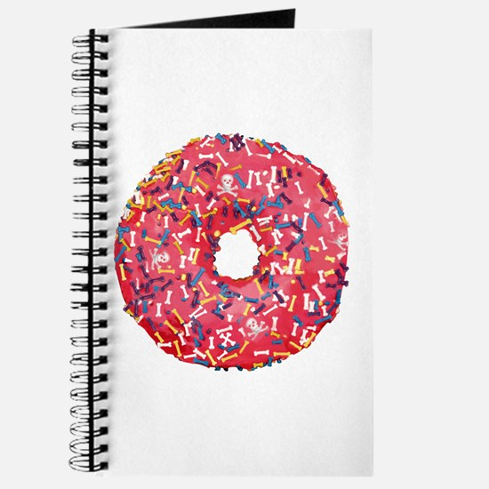 Skull &Bone Sprinkle Donut Journal