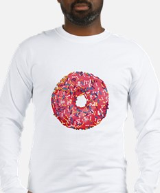 Skull &Bone Sprinkle Donut Long Sleeve T-Shirt