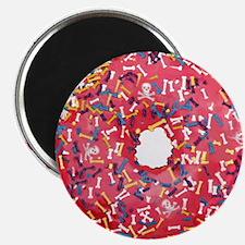 Skull &Bone Sprinkle Donut Magnet