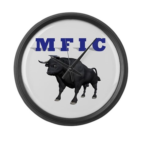 MF IN CHARGE Large Wall Clock