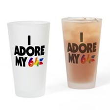 I Adore My 64 (light items) Drinking Glass