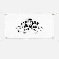 Hawaiian flowers Banner