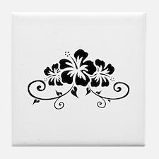 Hawaiian flowers Tile Coaster
