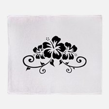 Hawaiian flowers Throw Blanket