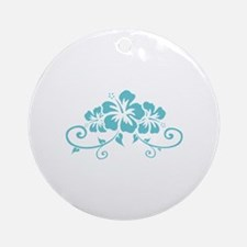 Hawaiian flowers Ornament (Round)