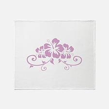 Hawaiian flowers Throw Blanket