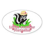Little Stinker Natasha Sticker (Oval 10 pk)