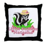 Little Stinker Natasha Throw Pillow