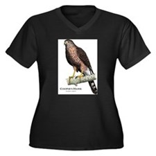 Cooper's Hawk Women's Plus Size V-Neck Dark T-Shir