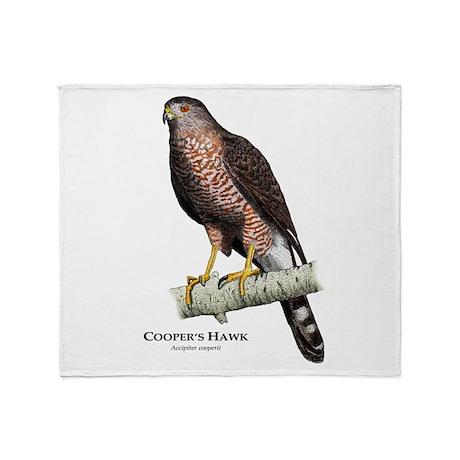 Cooper's Hawk Throw Blanket
