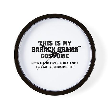 Barack Obama costume Wall Clock
