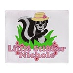 Little Stinker Nichole Throw Blanket
