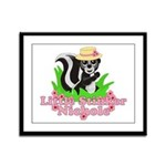 Little Stinker Nichole Framed Panel Print