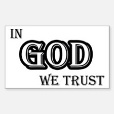 In God We Trust Stickers