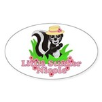 Little Stinker Nicole Sticker (Oval 10 pk)