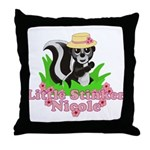 Little Stinker Nicole Throw Pillow