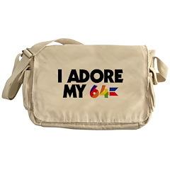 I Adore my 64 Messenger Bag