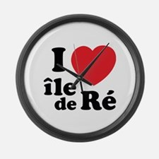 I Love Ile de Ré Large Wall Clock
