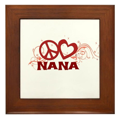 Peace Love Nana Framed Tile