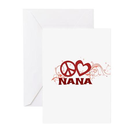Peace Love Nana Greeting Cards (Pk of 20)